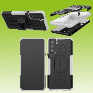 Für Samsung Galaxy S21 Plus G996B Outdoor Weiß Handy Tasche Etuis Hülle Cover