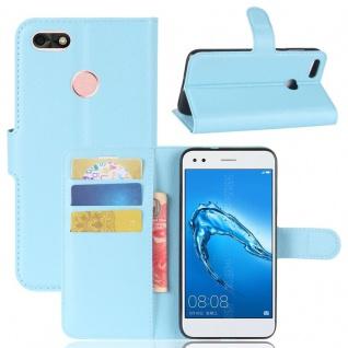 Tasche Wallet Premium Blau für Huawei Y6 Pro 2017 / Enjoy 7 Hülle Case Cover Neu