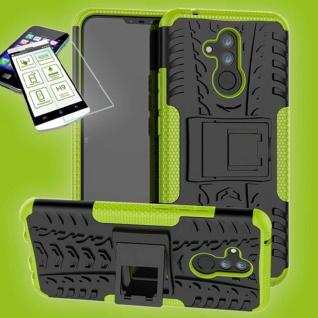 Für Huawei Mate 20 Lite Hybrid Tasche Outdoor 2teilig Grün Hülle + H9 Glas Case
