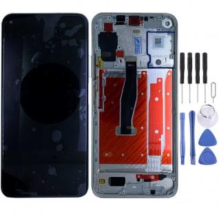 Für Huawei Honor 20 Pro Silber Display LCD Einheit Touch mit Rahmen Ersatz Neu