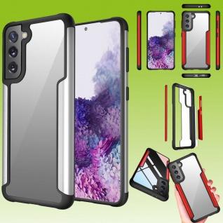 Für Samsung Galaxy S21 Hybrid Iron Man Silber Handy Tasche Etuis Hülle