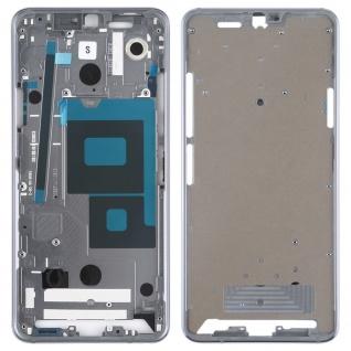 Gehäuse Rahmen Mittelrahmen Front Housing kompatibel für LG G7 ThinQ Silber
