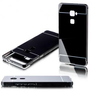 Alu Bumper 2 teilig mit Abdeckung Schwarz für Huawei Mate S 5.5 Tasche Hülle Neu