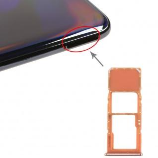 Sim Karten Halter für Samsung Galaxy A70 Orange Card Tray Micro SD Ersatzteil