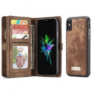 Schutzhülle Tasche für Apple iPhone X / XS Geldbeutel Schutz Hülle Etui Braun