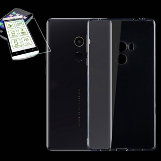 Silikoncase Transparent Tasche + 0, 3 mm H9 Panzerglas für Xiaomi Mi MIX 2 Hülle