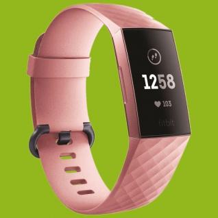 Für Fitbit Charge 3 Kunststoff / Silikon Armband für Männer / Größe L Pink Uhr