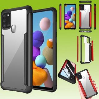 Für Samsung Galaxy A21s Hybrid Iron Man Schwarz Handy Tasche Etuis Hülle