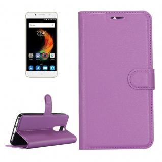 Tasche Wallet Premium Lila für ZTE Blade A610 Plus Hülle Case Cover Etui Schutz