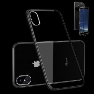 Für Apple iPhone XR 6.1 Zoll Magnet / Metall Glas Schwarz / Transparent Tasche