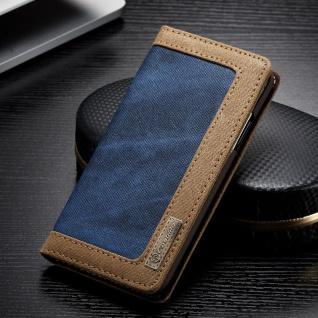 CaseMe Booktasche Flip Tasche Apple iPhone X / XS Cover Etui Schutzhülle Blau