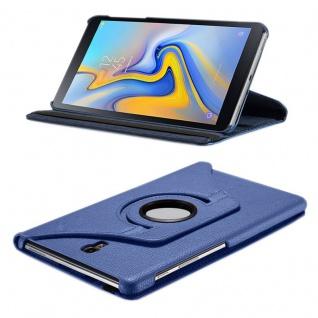 Für Samsung Galaxy Tab S4 10.5 T830 T835F Blau 360 Grad Kunstleder Tasche Hülle