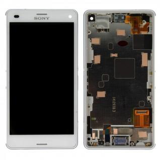 Original Sony Display LCD Komplett Einheit mit Rahmen für Xperia Z3 Compact Weiß