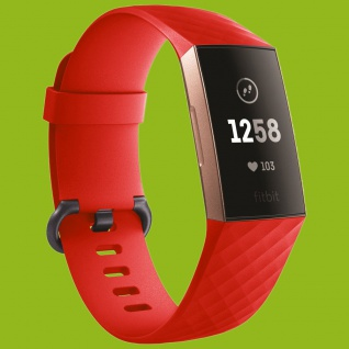 Für Fitbit Charge 3 Kunststoff / Silikon Armband für Männer / Größe L Rot Uhr