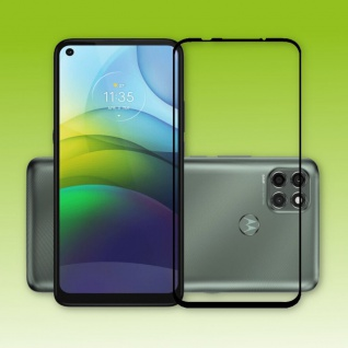 Für Motorola Moto G9 Power 3D Display Full H9 Hart Glas Schwarz Folie Panzer