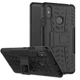 Für Xiaomi Redmi Note 6 Pro Hybrid Case 2teilig Outdoor Schwarz Tasche Hülle Neu