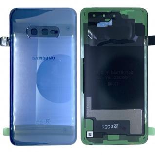 Samsung GH82-18452C Akkudeckel Deckel für Galaxy S10e G970F Klebepad Blau Ersatz