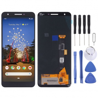 Für Google Pixel 3a Display Full OLED LCD Touch Screen Ersatz Reparatur Schwarz