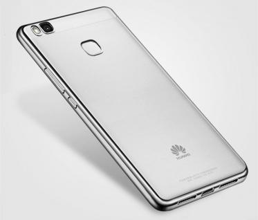 Premium TPU Schutzhülle Schwarz für Huawei P9 Lite Tasche Backcover Silikon Neu