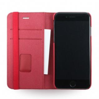 Adidas Bohemian Tasche Book Cover Apple iPhone 7 Hülle Handytasche Etui Rot Neu - Vorschau 3
