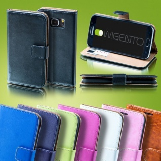 Für Huawei P20 Tasche Wallet Kunstleder Schwarz Schutz Hülle Cover Case Etui Neu