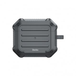 Benks Shockproof Apple Airpods Pro Cover Grau Schutzhülle Tasche Case Halter