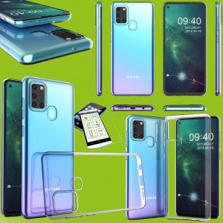 Für Samsung Galaxy A31 A315F Silikon TPU Transparent + H9 Glas Tasche Hülle Etui