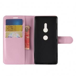 Tasche Wallet Premium Rosa für Sony Xperia XZ2 Hülle Case Cover Schutz Etui Neu - Vorschau 4