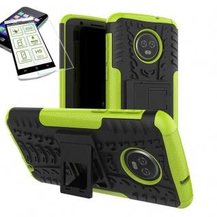 Für Motorola Moto G6 Plus Hybrid Tasche Outdoor 2teilig Grün Hülle + H9 Glas Neu