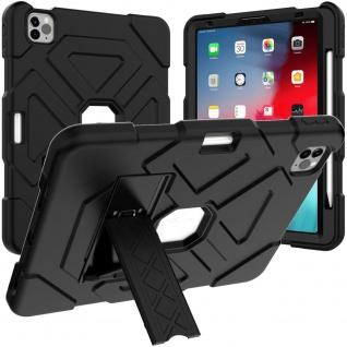 Für Apple iPad Pro 11.0 Zoll 2018 Hybrid Outdoor Case Schwarz Tasche Cover Hülle