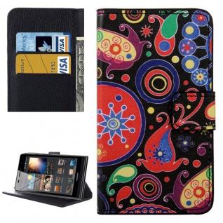 Schutzhülle Muster 8 für Huawei P9 Bookcover Tasche Case Hülle Wallet Etui Neu