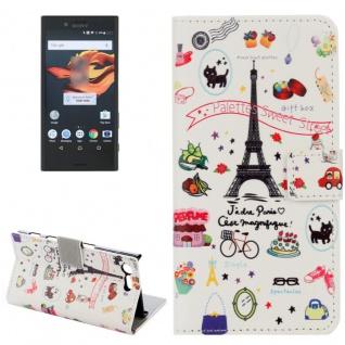 Tasche Wallet Premium Muster 11 für Sony Xperia X Compact F5321 Bookcover Hülle