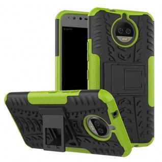 Hybrid Case 2teilig Outdoor Grün Tasche Hülle für Motorola Moto G5S Plus Etui