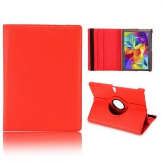 Schutzhülle 360 Grad Rot Tasche für Samsung Galaxy Tab S 10.5 T800 Zubehör Neu