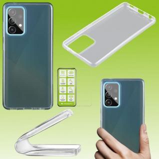 Für Samsung Galaxy A72 Silikon Transparent + H9 Glas Handy Tasche Etuis Hülle