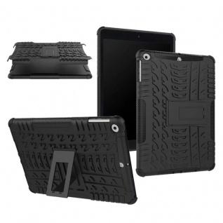 Hybrid Outdoor Schutzhülle Cover Schwarz für Apple iPad 9.7 Tasche Case Hülle