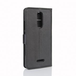 Tasche Wallet Premium Schwarz für Wiko Upulse Lite Hülle Case Cover Etui Schutz - Vorschau 3