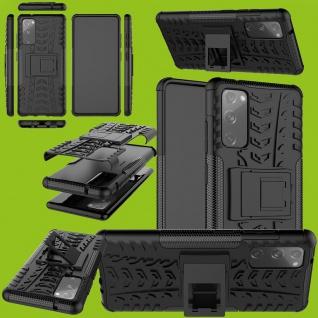 Für Samsung Galaxy S20 FE Hybrid Case Outdoor Schwarz Handy Tasche Etuis Cover