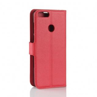 Tasche Wallet Premium Rot für Huawei Enjoy 7S / P Smart Hülle Case Cover Schutz - Vorschau 3