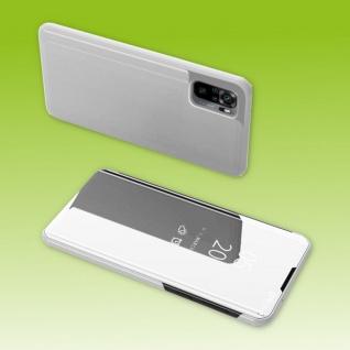 Für Xiaomi Redmi Note 10 / 10s View Smart Cover Hülle Silber Handy Tasche Etuis