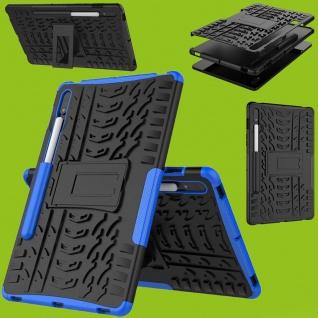 Für Samsung Galaxy Tab S7 T870 / T875 Hybrid Blau Tablet Tasche Etuis Hülle
