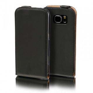 Flip Tasche Deluxe Schwarz für Samsung Galaxy A5 2016 A510F Hülle Case Etui Neu
