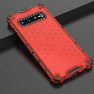 Für Samsung Galaxy S10 G973F Schock Hybrid Silikon TPU Rot Tasche Hülle Etuis
