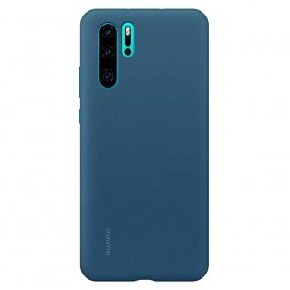51992878 Case Blau für Huawei P30 Pro Original Silikon Tasche Etui Abdeckung