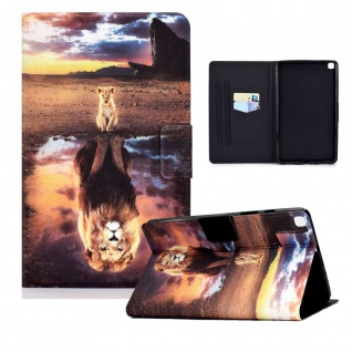 Für Samsung Galaxy Tab S6 Lite P610 Motiv 87 Tablet Tasche Kunst Leder Etuis Neu