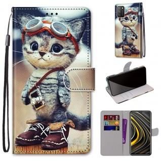 Für Xiaomi Poco M3 / Redmi 9T Kunstleder Handy Tasche Book Motiv 1 Hülle Case Cover Etuis