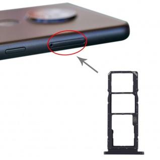 Für Nokia 7.2 / 6.2 SIM + SIM + Micro SD Karten Halter Card Tray Schwarz Ersatz
