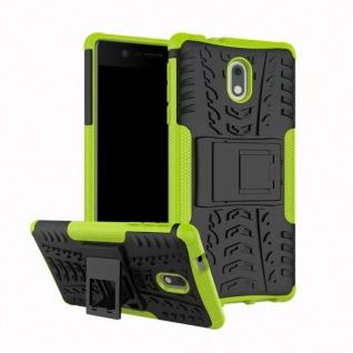 Hybrid Case 2teilig Outdoor Grün Tasche Hülle für Nokia 3 Schutz Etui Cover Neu