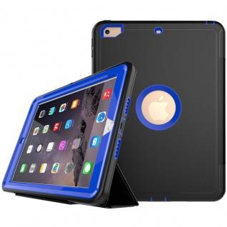Hybrid Outdoor Schutzhülle Blau für Samsung Galaxy Tab A 10.5 T590 Tasche Hülle - Vorschau 2