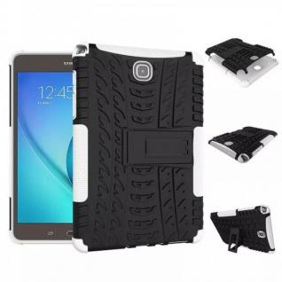 Hybrid Outdoor Schutzhülle Cover Weiß für Samsung Galaxy Tab A 9.7 T550 Tasche
